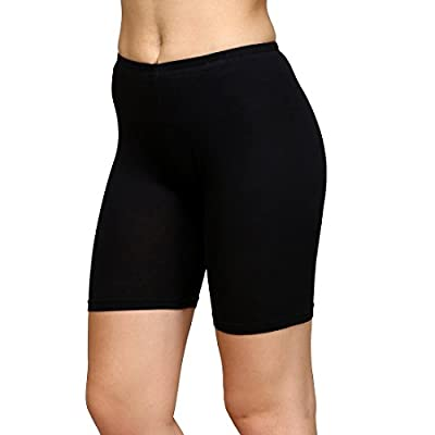 ShopOlica Women's Cotton Cycling, Yoga, Jogging Shorts/Innerwear Tights, Shorties, 4 Way Stretchable,- Free Size