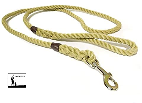 Dog & Field Cotton Rope Dog Lead With Trigger Clip (Natural )
