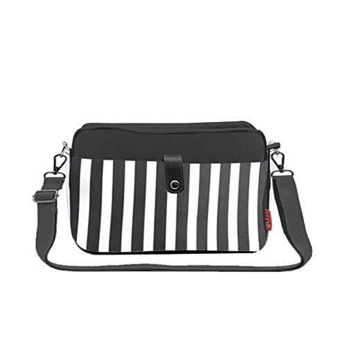 Allis Mini Changing Baby Diaper Nappy Bag (Black Stripe)