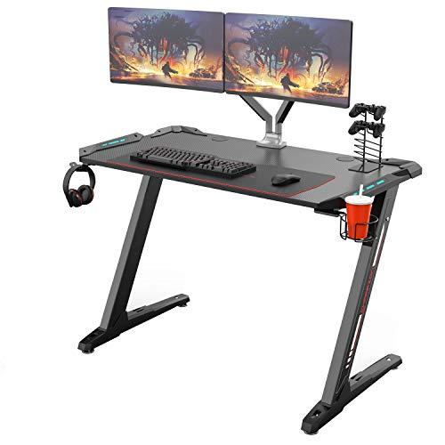 Eureka Ergonomic Z1-S Gaming Desk - Mesa de juegos para computadora, mesa...
