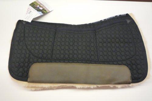 Preisvergleich Produktbild Mattes Westernpad Square Pad komplett Lammfell mit Dreitaschen-Correction-System, schwarz, Long