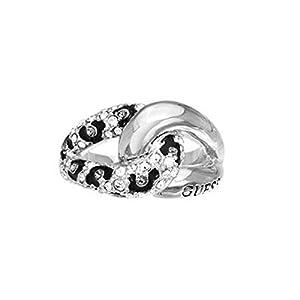 Guess Damen-Ring Metalllegierung Glas weiß UBR51421
