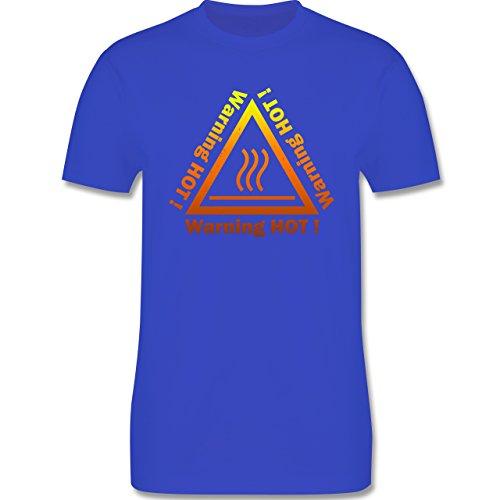 Sprüche - Warning hot - Herren Premium T-Shirt Royalblau