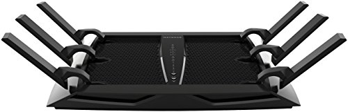 Netgear Nighthawk R8000-100PES - Router Gaming X6 WiFi AC3200 Tri-Band Compatible con Alexa (3200 Mbit/s, 1 x USB 3.0, 1 x USB 2.0, 5 Puertos Ethernet Gigabit) Color Negro