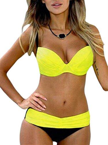 Happy Sailed Womens Push up Bikini Set (S-XXL)