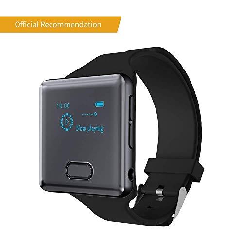 Tragbares Bluetooth Bloothooth MP3 Player Zum Laufen mit Raido Armband Clip, tragbarer digitaler Audio-Musik-Player, Sport/Schrittzähler/FM Radio/Sprachaufnahme / eingebaute16 GB bis zu 128 GB