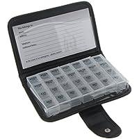 Preisvergleich für Gazechimp 7 Tage Tablettenbox 4 Fächer für jeden Tag Tablettendose Reisen Pillendose Pillenbox - Weiß