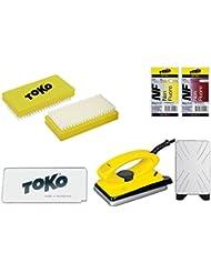 Toko Kit de cire 5pièces de ski avec cire Fer à Repasser–pour Alpin + Nordic + BOARD