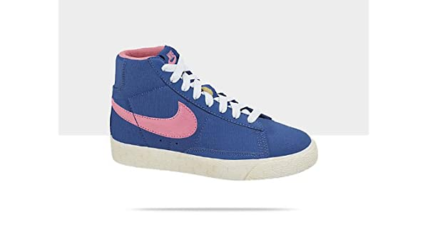 33ff0c449eb4 Nike Blazer Mid Vintage (PS) Child 574321-400 Bleu Blue Size  2 UK   Amazon.co.uk  Shoes   Bags
