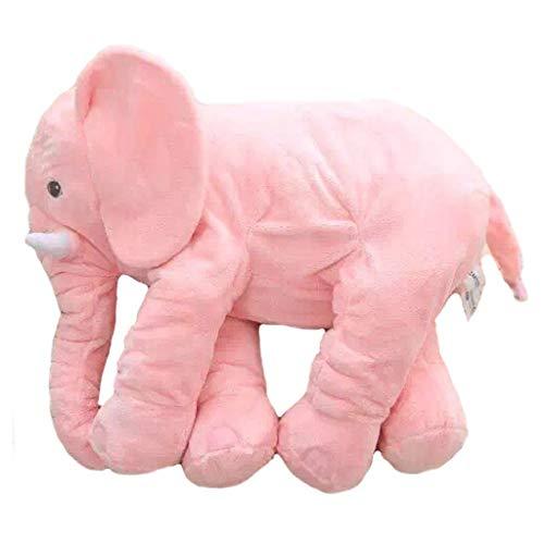 HEMFV Großes Baby Kissen schlafen gefüllte Plüsch Kissen schlafen niedlichen Tier Elefant Kissen 60cm, niedlichen Elefant Kissen Kleinkind schlafen Elefant gefüllte Plüsch Kissen weichen Plüsch Zeug S