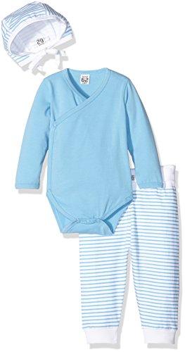 Care Baby-Jungen Bekleidungsset Bio Baumwolle, 3-tlg, Blau (Alaskan Blue 733), 3 Monate (Herstellergröße: 62 )