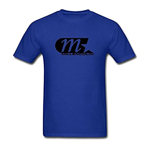 UKCBD Herren T-Shirt Gr. L, Blau - Königsblau (Bob Dylan The Man In Me)