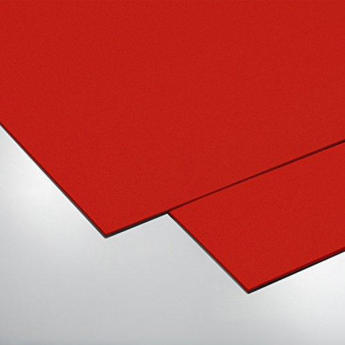 [70301021] COLOR Hartschaumplatte, Bastelplatte, Größe: 500 x 500 mm, rot, Stärke: 3mm, Kunststoffplatte
