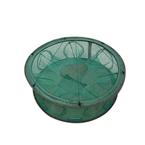 Hotaluyt Automatisches Öffnen Fischernetz tragbare Runde Fischnetz Nylon Faltbare Crayfish Shrimp Catcher Crab Fish Trap Cages Gefaltete -