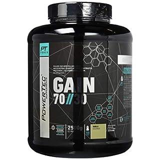POWERTEC SUPPLEMENTS 70/30 Gain Complete+ Weight Gainer - hochwertiges Konzentrat aus Kohlenhydraten und Protein, mit Glutamin und Leucin Vanille, 2500 g