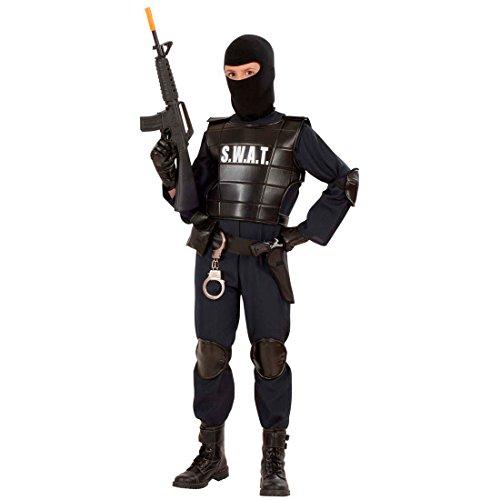 Amakando S.W.A.T Weste Einsatzweste für Kinder Polizei Weste Schutzweste Security Kinderfasching Kostüme Polizei Fasching Kinderkostüm