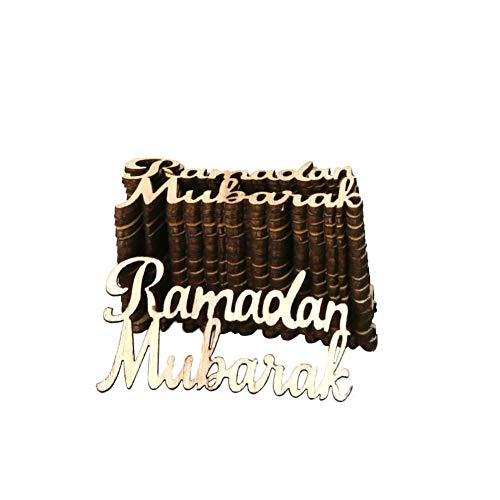 DIY Plaque Hängende Dekoration Anhänger Mubarak Ramadan Partei Liefert 15 ()