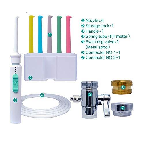 WBDSGXBW Mundduschen 6 stücke Düsen Wasserhahn Munddusche Schalter Wasser Dental Flosser Multi Einzel Jet Floss Implementieren Bewässerung Zahnreiniger