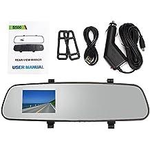 Vovotrade 2.4 Full HD 1080P Auto DVR del coche Espejos retrovisores vista trasera Vídeo Grabadora Guión de la cámara con poseedor