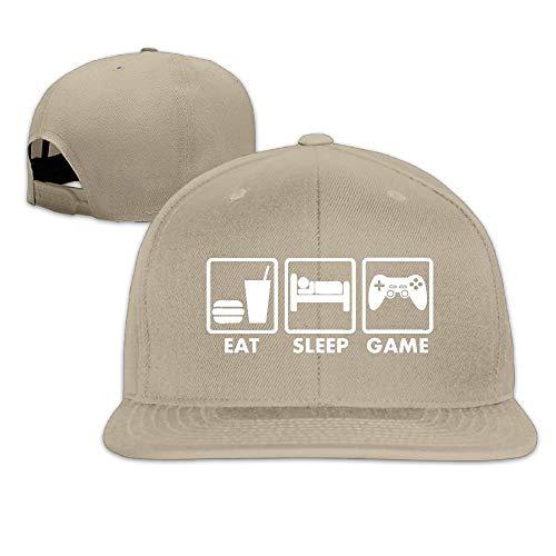 Novelcustom Video Games Eat Sleep Washed Unisex Adjustable Flat Bill Visor Dad Hat