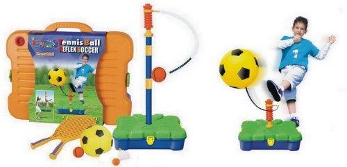 Kingsport 3 in 1 Sport Set Reflex Football Soccer, Badminton & Tennis Skill Trainer Kit for Kids by King Sport