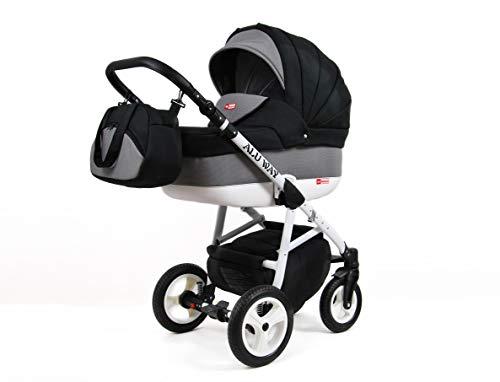 Kinderwagen BABYLUX ALU WAY KARBONS, 3 in 1- Set Wanne Buggy Babyschale,Muffe