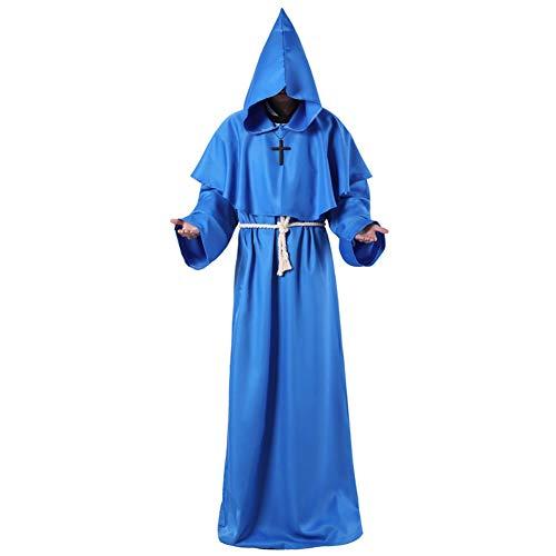 Capa capucha unisex Longitud completa Wicca Túnica