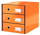Leitz Drawer Cabinet, 3 Drawers, A4, Click and Store Range 60480044 - Orange