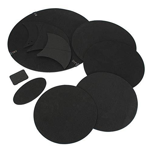 raspbery 10 Stück/Set Drum Pad Schalldämpfer Pad Gummischaum 5 Trommel 3 Beckenanzug für Schlagzeuger (Bass-drum-praxis)