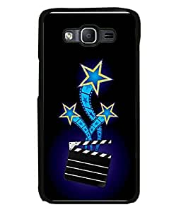 PrintVisa Designer Back Case Cover for Samsung Galaxy On 5 (Darken Blue shining star clips)