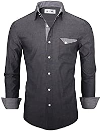 Tom's Ware Chemise-Inner Plaid manches longues Button Down-Hommes