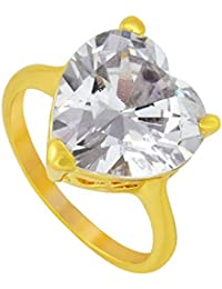d64024a8b56 Memoir Gold Plated, White Cubic Zirconia (CZ), facetted, Heart Shape Free