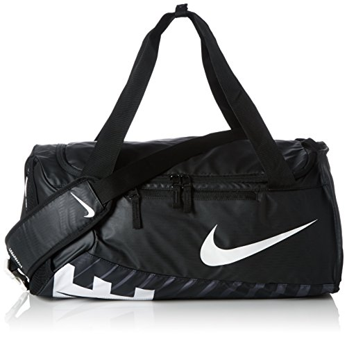 Nike Men's Alpha (Small) Training Duffel Bag, Color Black/Black/White, Talla MISC