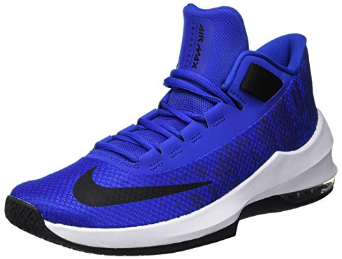 Nike Air MAX Infuriate 2 Mid, Zapatos de Baloncesto para Hombre, Dorado (Game Royal/Black/White 400), 44 EU