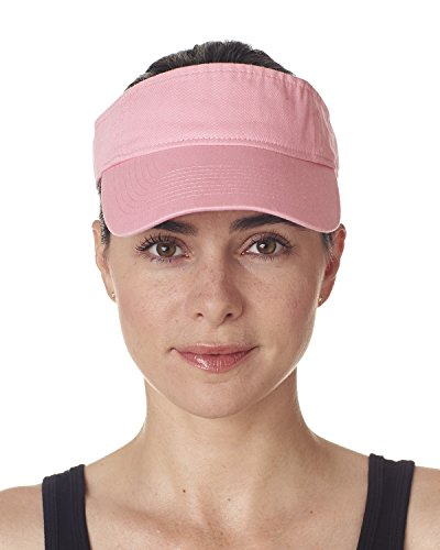 Adult Classic Cut Chino Cotton Twill Visor PINK OS Twill Visor