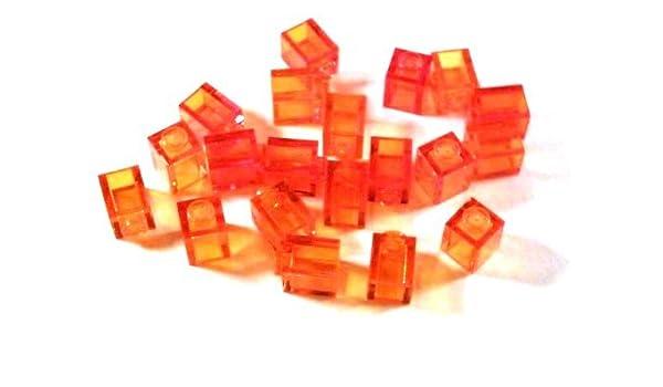 20 Stück LEGO® 1x1 Rundsteine  transparente rot