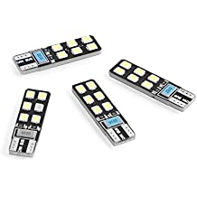 Neuftech 4x T10 W5W 2835 SMD 12 LED CANBUS NO ERROR bombillas para coche-Blanco