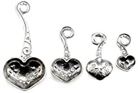 Crosby & Taylor Heart to Heart Pewter Measuring Spoon Set without Display