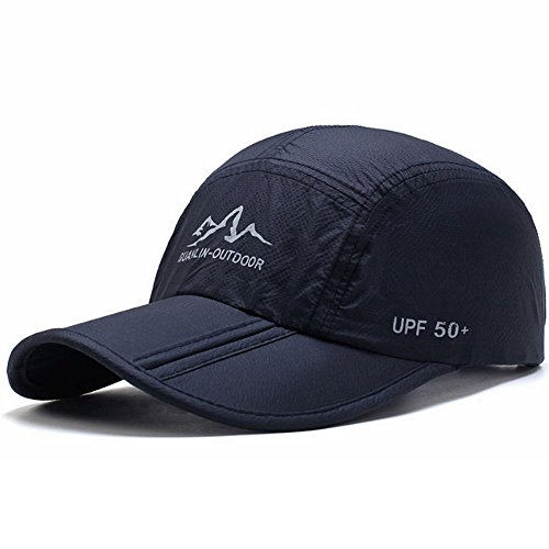 CATOP UPF50+ Travel Hats Summer Baseball Cap Sun Visors Running Hats Lightweight & Breathable Quick-drying Foldable Cooling Hats Navy blue (Strapse Outdoor Research)