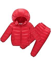FLHT Chaqueta De Abajo Niño Niña Niños Niñas Niños Invierno Otoño Abrigo Cálido De Parka Color Claro Ropa para Niños Lindo Traje…
