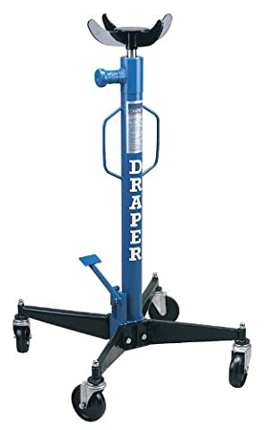 DRAPER 600KG VERTICAL TRANSMISSION JACK - Features high speed lift foot pedal and hand operated (Pedale Jacks)