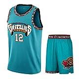 Men's Basketball Jersey Ja Morant 12#, Ademend Slijtvast Geborduurde Sweatshirt T-shirt + Shorts, XS-XXL, FHI262IHF (Size : M)