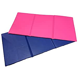Triple Folding Nursery Sleep Mat In Blue Pink For