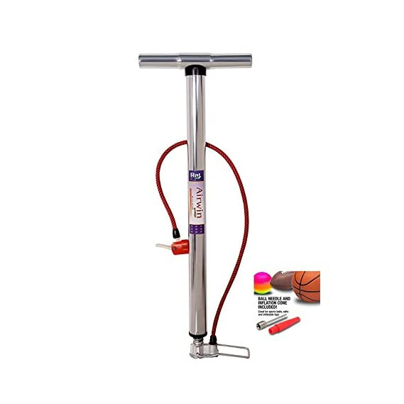 Raj Airwin Chrome Air Pump For Car Cycle Bike Ball And Inflatable Furniture