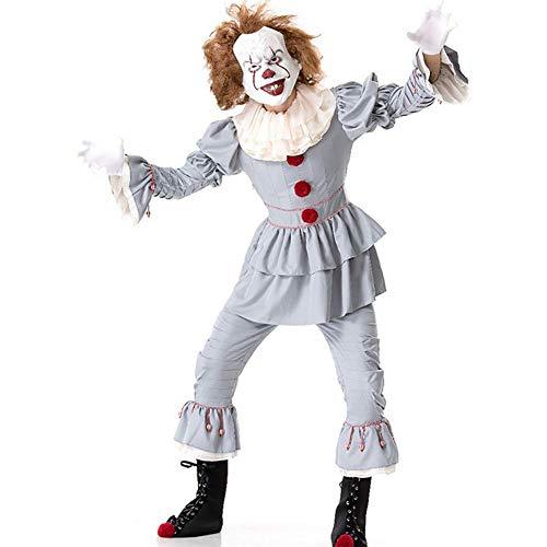 Unbekannt Halloween Cosplay Kostüm Erwachsene Clown Returning Soul Burlesque Kostüme Geeignet Für Karneval Thema Parteien Neujahr Festival,L