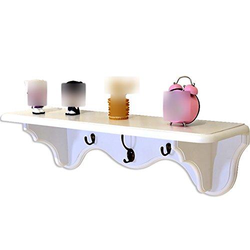 CHAOXIAN Wandregal Hängeregal Schweberegal Küchenregal Multifunktion Schindel Haken Birke, 2 Farben, 750x203x205mm (Farbe : Weiß) (Regal Bücherregal Birke 2)
