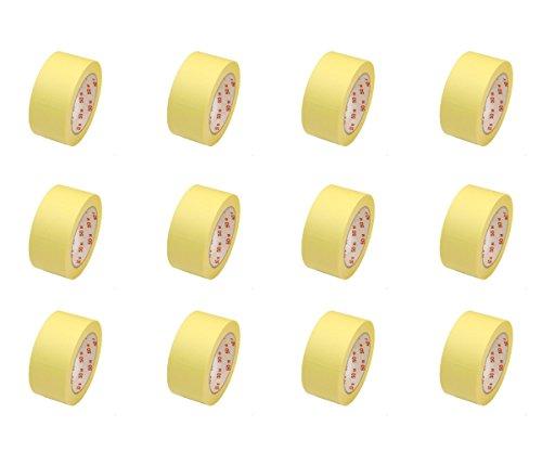 12 Rollen Flachkrepp Abklebeband Malerkrepp Malerband 50mm x 50m bis 60°C (EUR 0,04 / m)