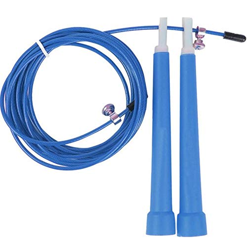 TECHONTO Skipping Rope Jump Rope - Boxing MMA Fitness Training Cardio Core Training- Speed Adjustable Skipping Rope (Blue)