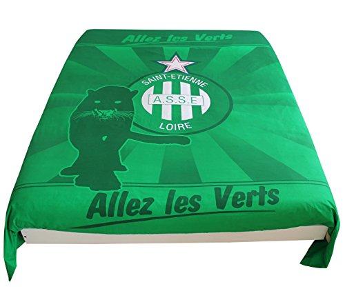 Copripiumino di Saint Etienne-Collezione ufficiale AS Saint Etienne-dimensioni 140x 200cm.