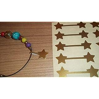 Sternförmig Schmuck Preisaufkleber, 500, Matte Gold Sterne